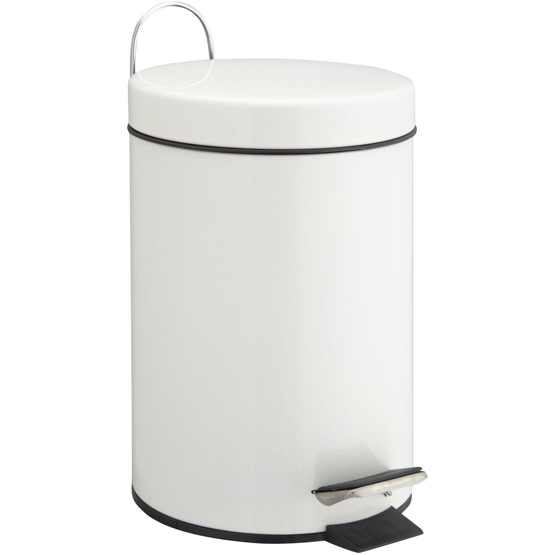 poubelle de salle de bains 3 l blanc blanc 0 sensea happy leroy merlin. Black Bedroom Furniture Sets. Home Design Ideas