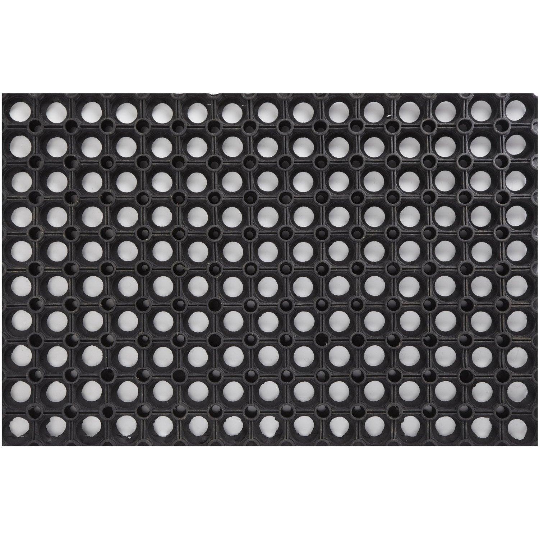 paillasson caoutchouc noir x cm ring rubber. Black Bedroom Furniture Sets. Home Design Ideas