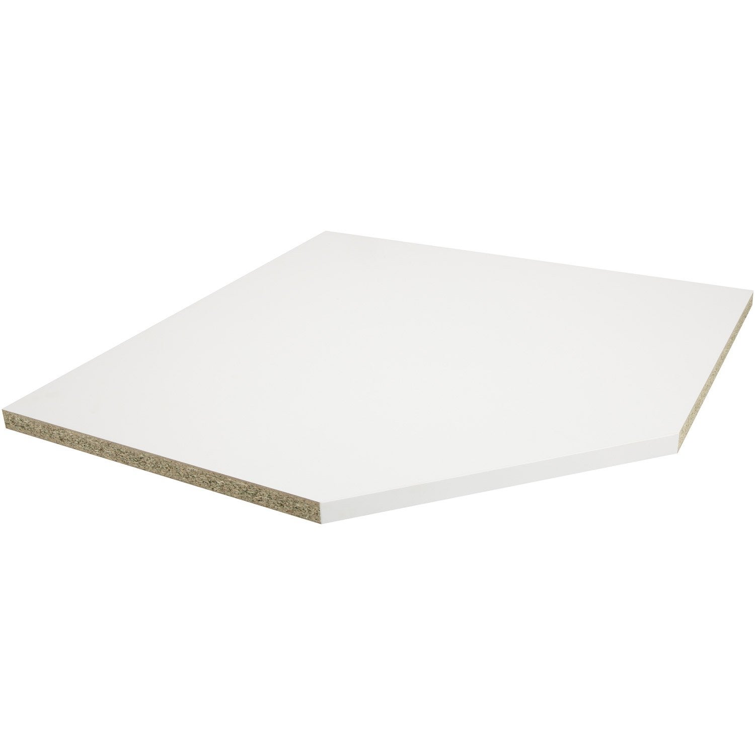 Plan dangle stratifié Blanc Mat L105 x P105 cm, Ep38 mm  Leroy