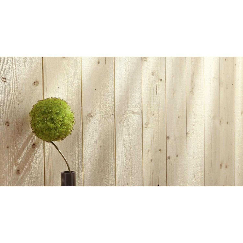 Lambris bois sapin brut de sciage petits noeuds, L 205 x l 13 5cm,ép 12mm Leroy Me # Sciage De Bois A Domicile