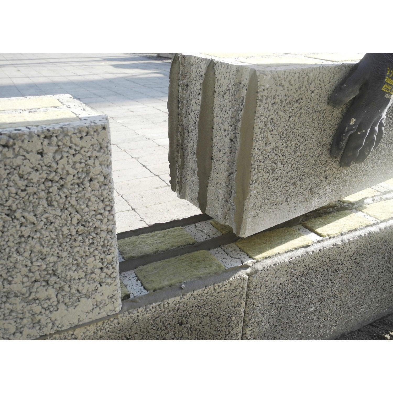 Parpaing alkern x x cm leroy merlin - Construire un muret en beton ...