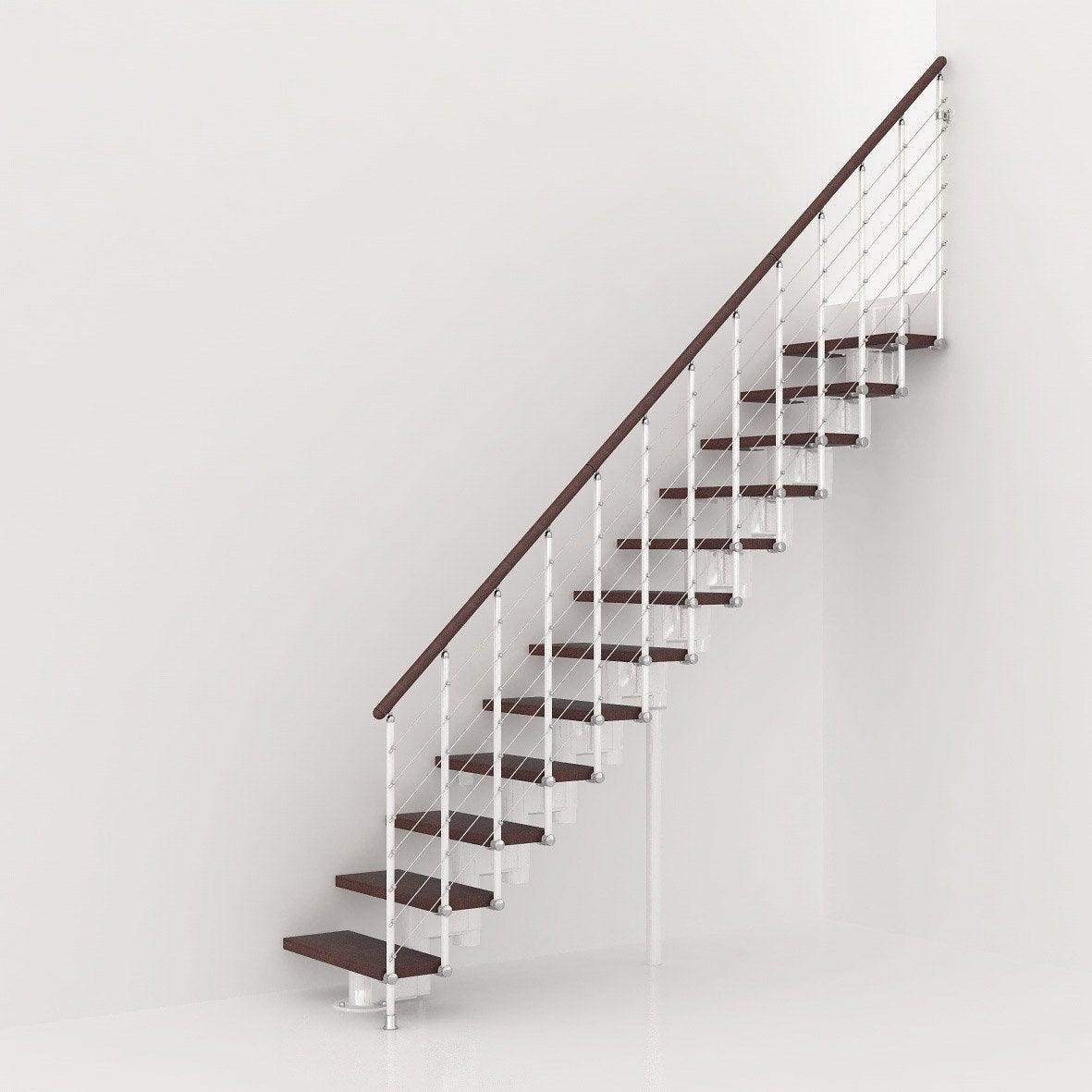 Escalier modulaire long structure m tal marche bois - Bloc marche leroy merlin ...