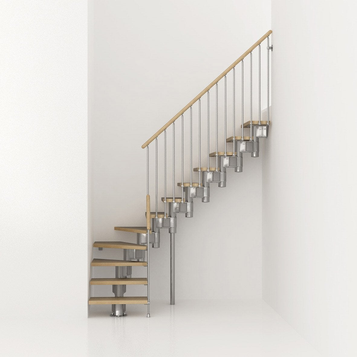 escalier modulaire long structure m tal marche bois leroy merlin. Black Bedroom Furniture Sets. Home Design Ideas