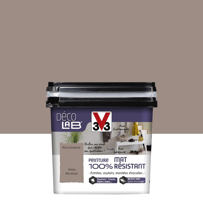 Peinture brun humus v33 d colab mat 100 r sistant l for Peinture couleur ficelle