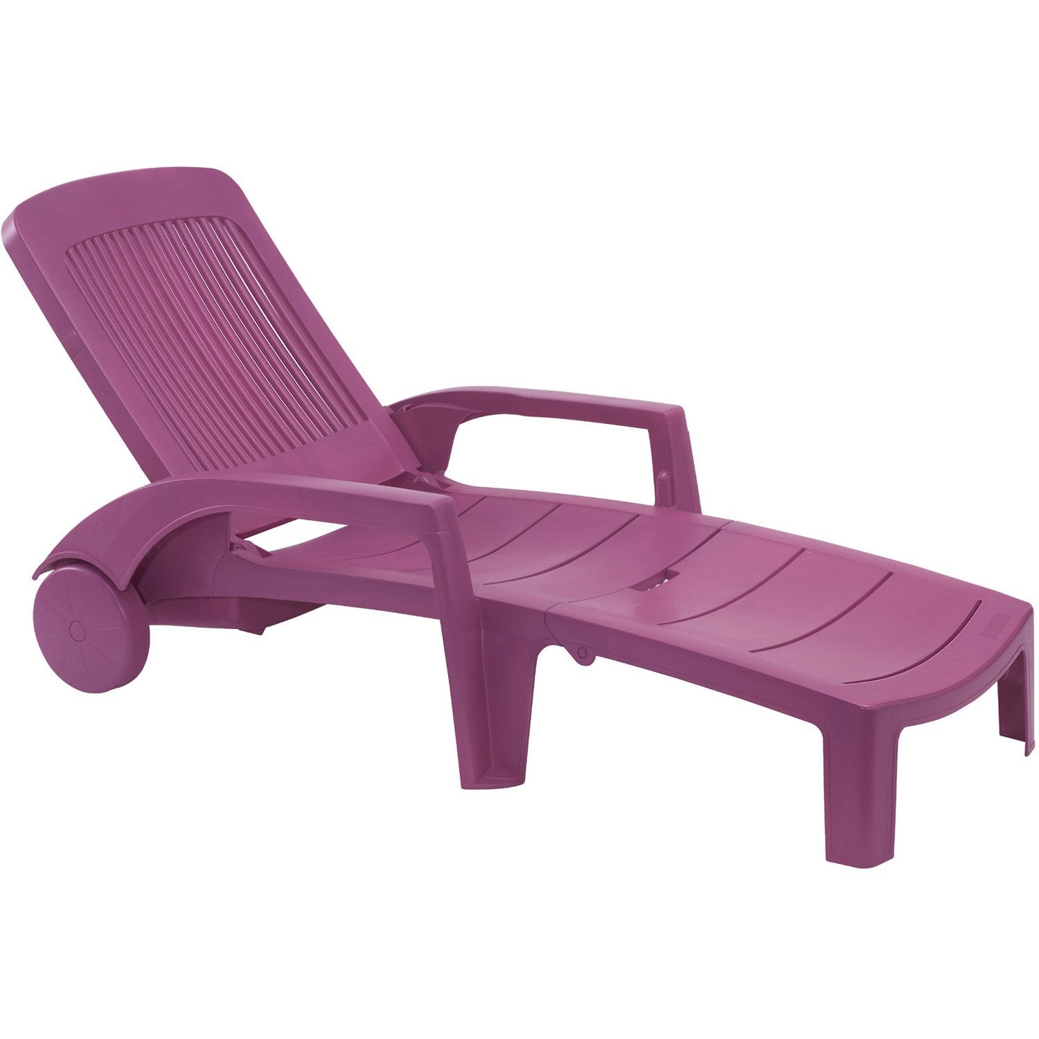 bain de soleil de jardin fidji couleur fuschia grosfillex leroy merlin. Black Bedroom Furniture Sets. Home Design Ideas