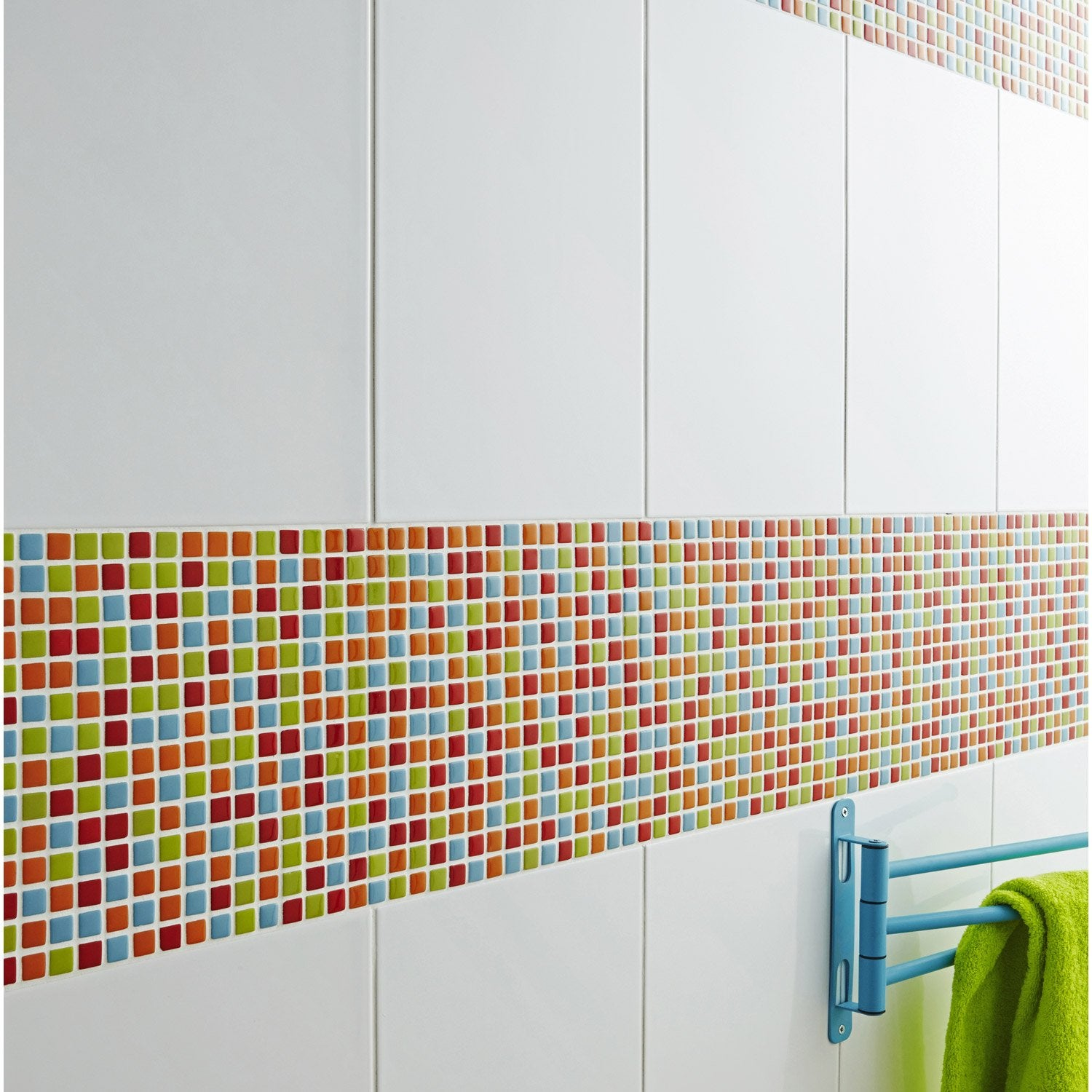 Mosa que mur pop multicolore leroy merlin for Mosaique murale cuisine