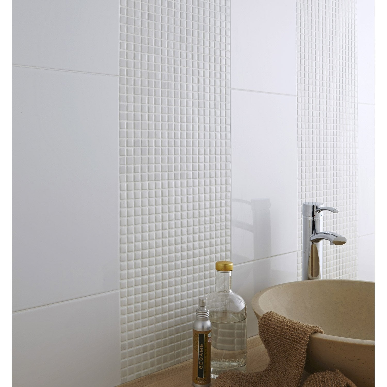 Carrelage mosaique blanc id es de for Carrelage mosaique leroy merlin