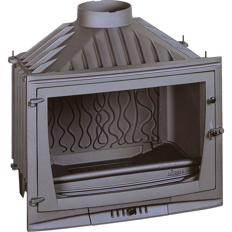 Foyerà bois façade droite INVICTA 6769 00 10 kW Leroy Merlin # Vis Insert Bois Leroy Merlin