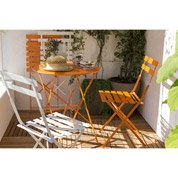 Salon de jardin Flore orange, 2 personnes