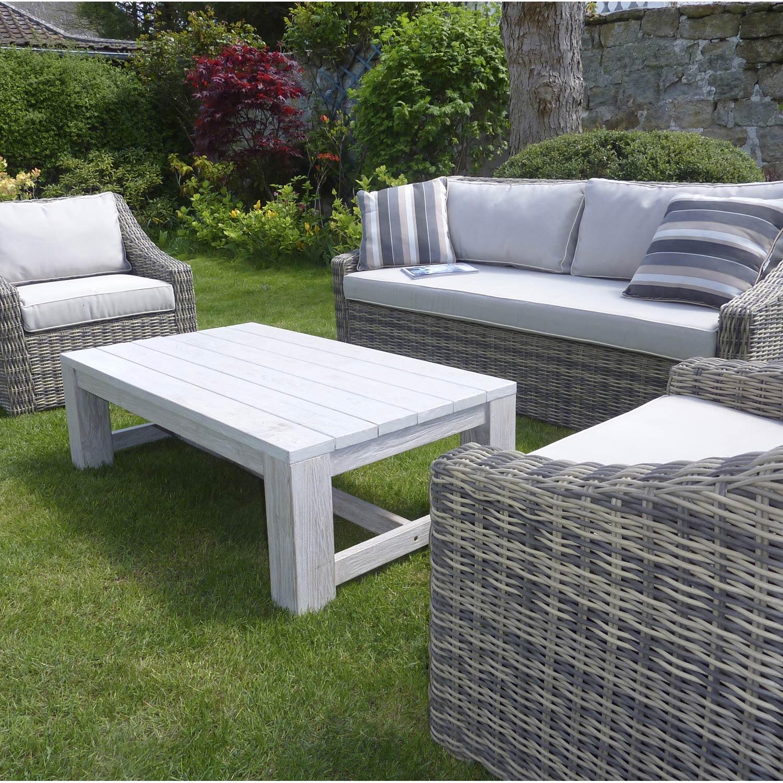 salon de jardin vintage blanchi 4 personnes leroy merlin. Black Bedroom Furniture Sets. Home Design Ideas