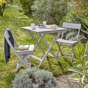 Salon de jardin Portofino NATERIAL gris, 2 personnes