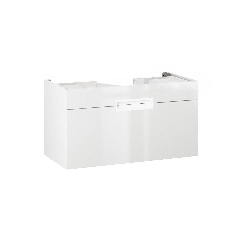 Meuble sous vasque x x cm blanc eden for Meuble sous vasque 90 cm