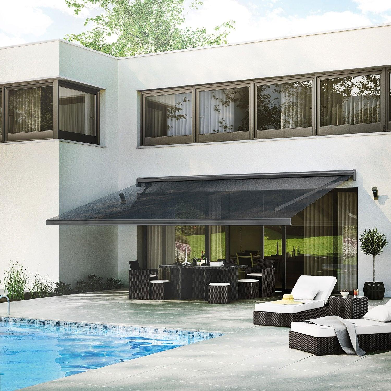 store banne motoris gold xl coffre int gral 6 x 3 5 m p128 zinc gris zingu leroy merlin. Black Bedroom Furniture Sets. Home Design Ideas