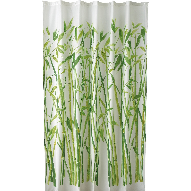 Rideau de douche en tissu bali sensea vert 180 x 200 cm leroy merlin - Rideaux cuisine leroy merlin ...