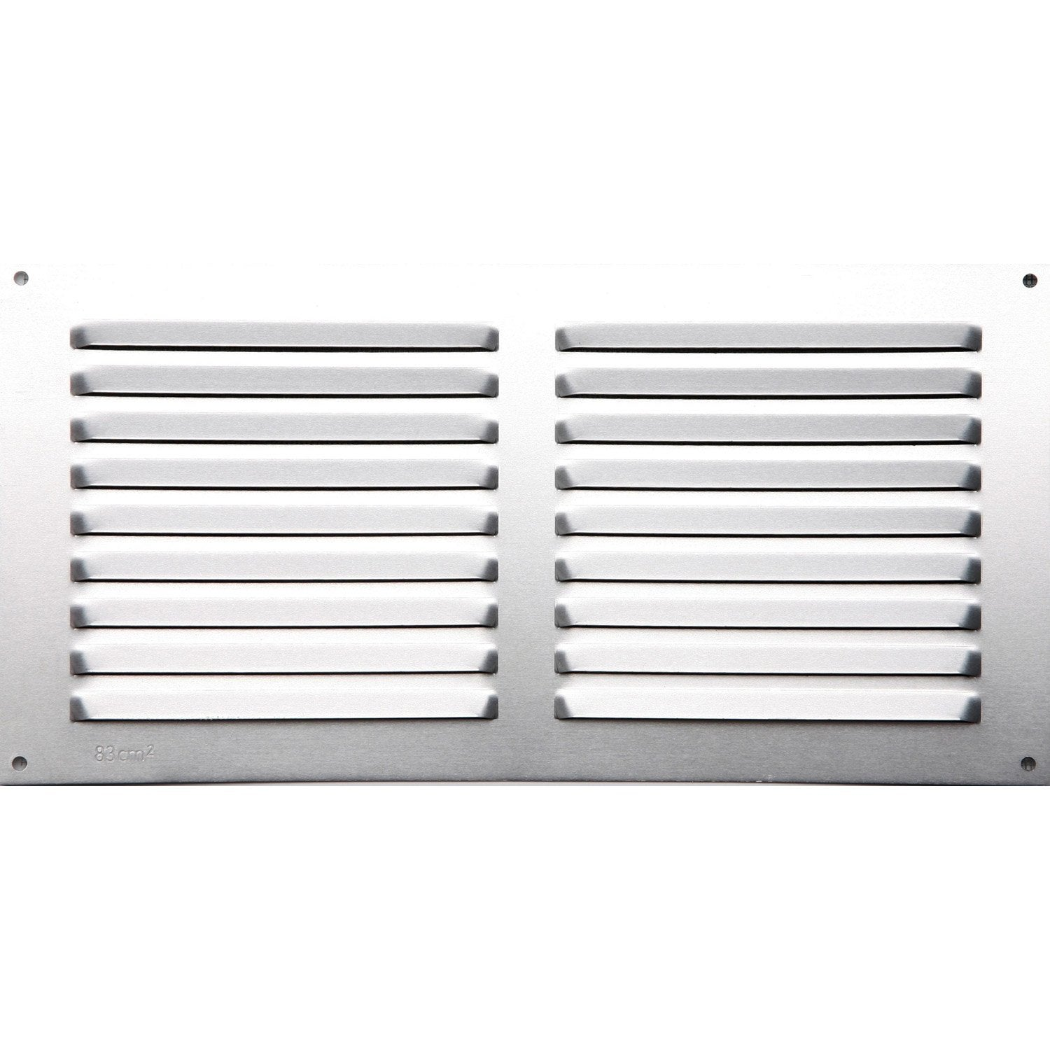 Grille d 39 a ration aluminium anodis x cm for Grille aeration fenetre hygroreglable