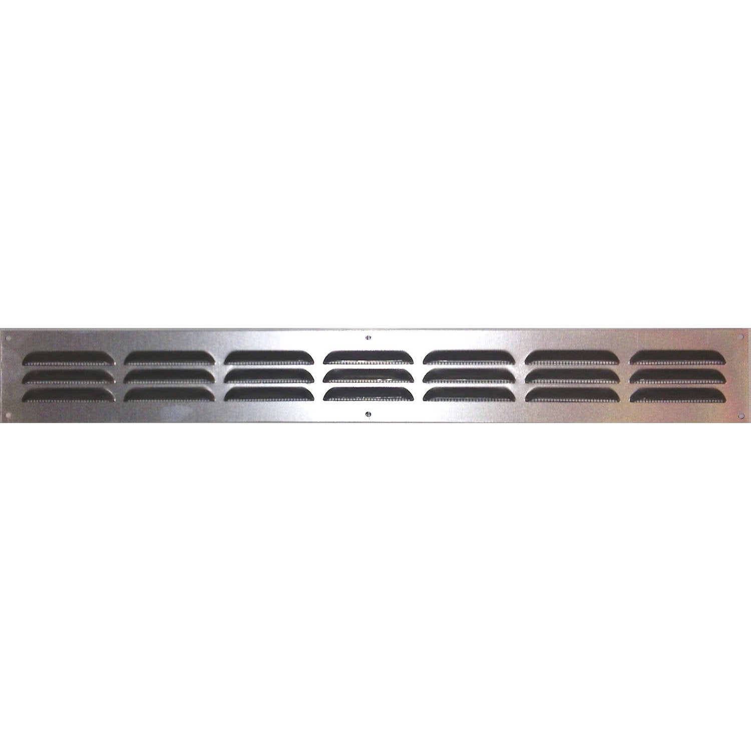 Grille d 39 a ration visser aluminium anodis 40x5cm for Installer grille aeration fenetre