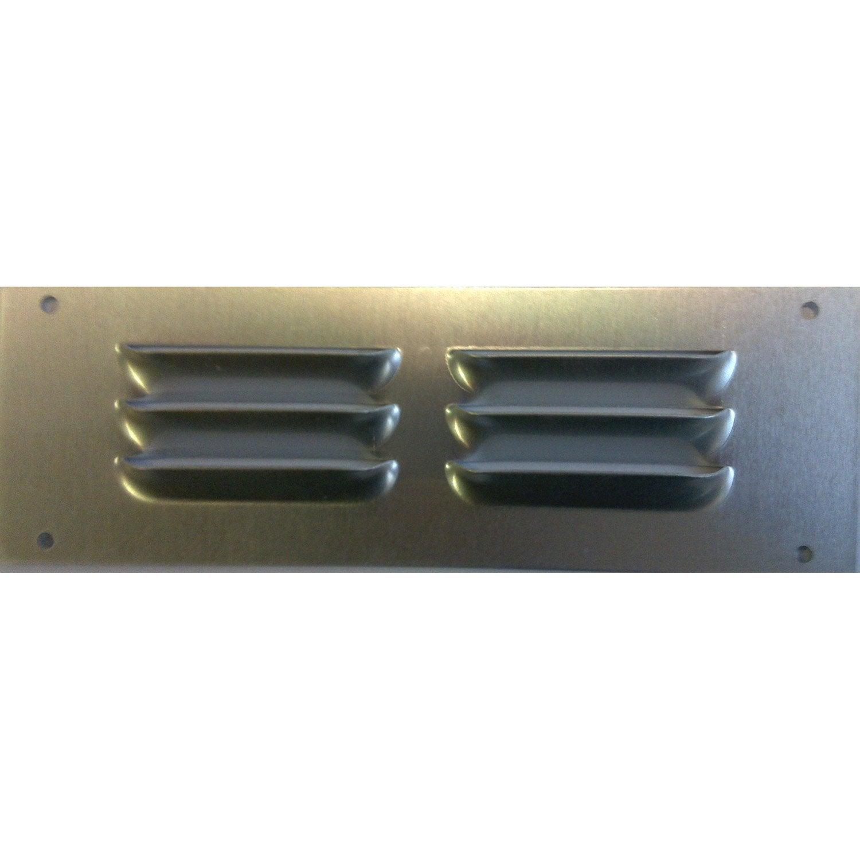 Grille d 39 a ration aluminium anodis l 5 x cm leroy for Grille d aeration cuisine