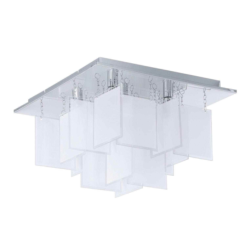 Plafonnier condrada eglo blanc 33 w leroy merlin for Plafonnier exterieur terrasse