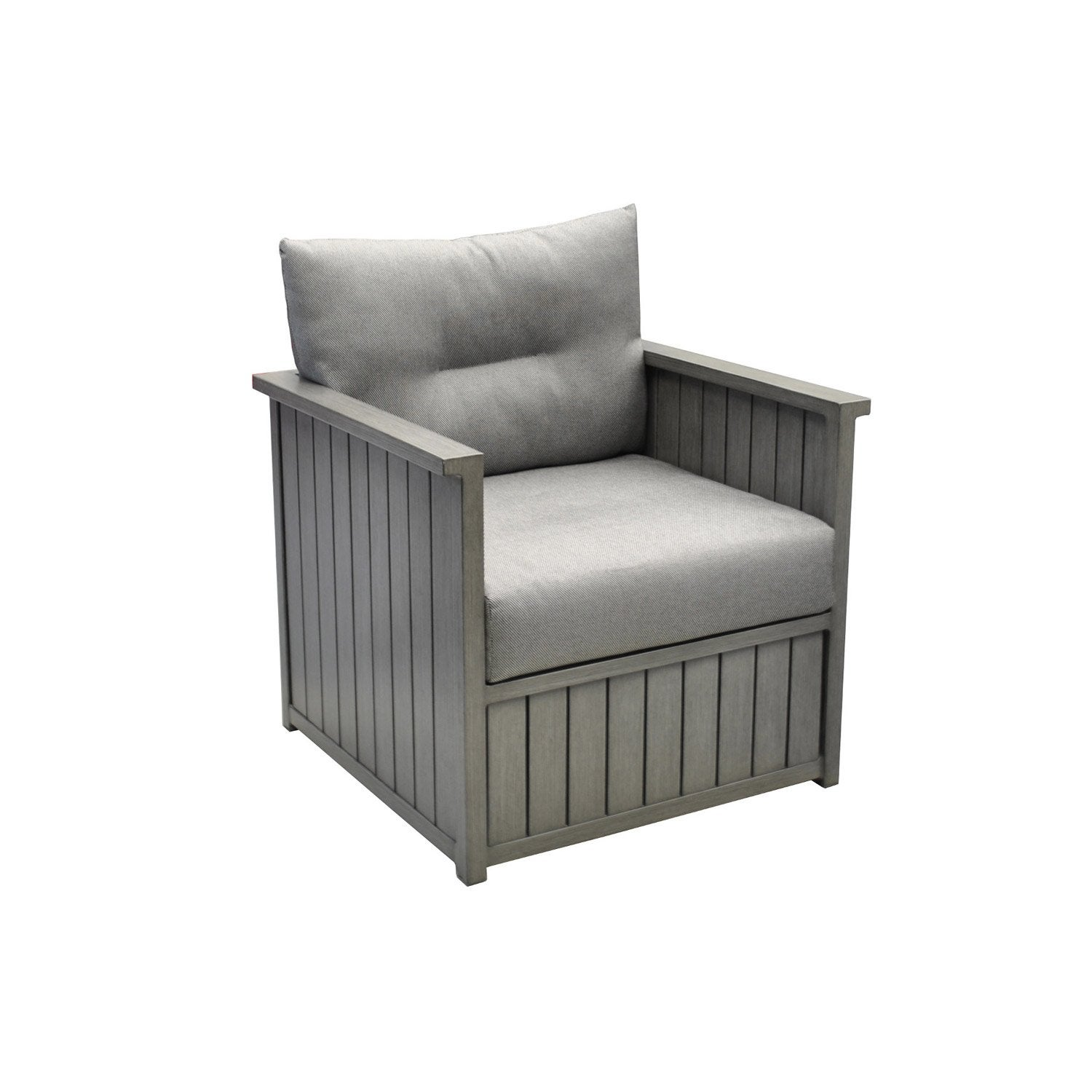 fauteuil bas de jardin en aluminium milano gris leroy merlin. Black Bedroom Furniture Sets. Home Design Ideas