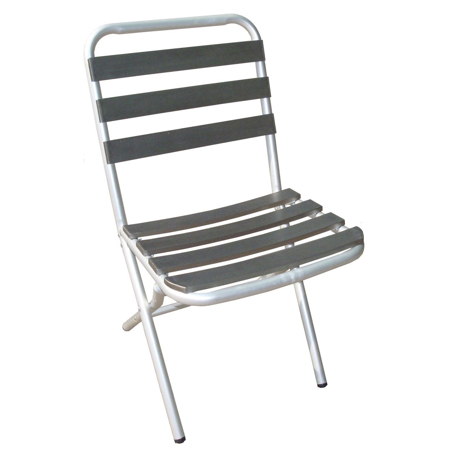 Chaise de jardin en aluminium boston gris leroy merlin for Chaise jardin leroy merlin