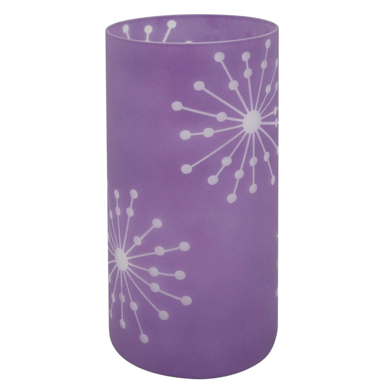 Lampe poser atona inspire verre violet violet n 3 40 - Lampe a poser leroy merlin ...