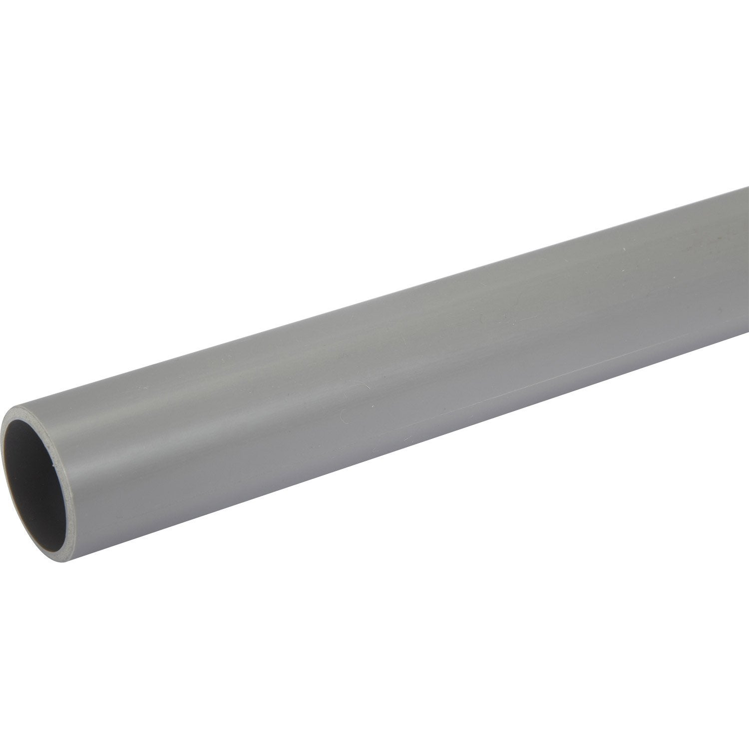 Tube d 39 vacuation pvc mm l 2 m leroy merlin for Tube pvc 100 diametre interieur