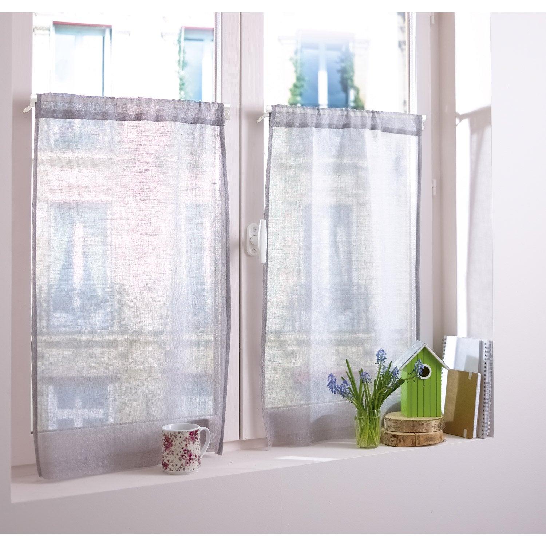 1 tringle de vitrage extensible sans per age presto basic blanc long 45 60 - Leroy merlin vitrage ...
