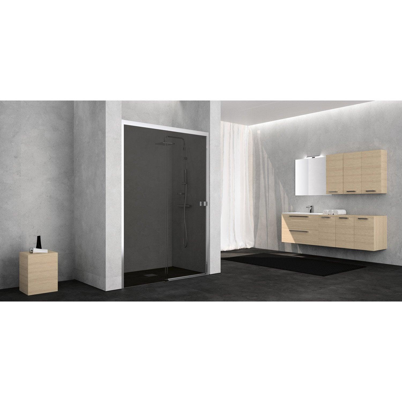 porte de douche coulissante 120 cm fum neo leroy merlin. Black Bedroom Furniture Sets. Home Design Ideas