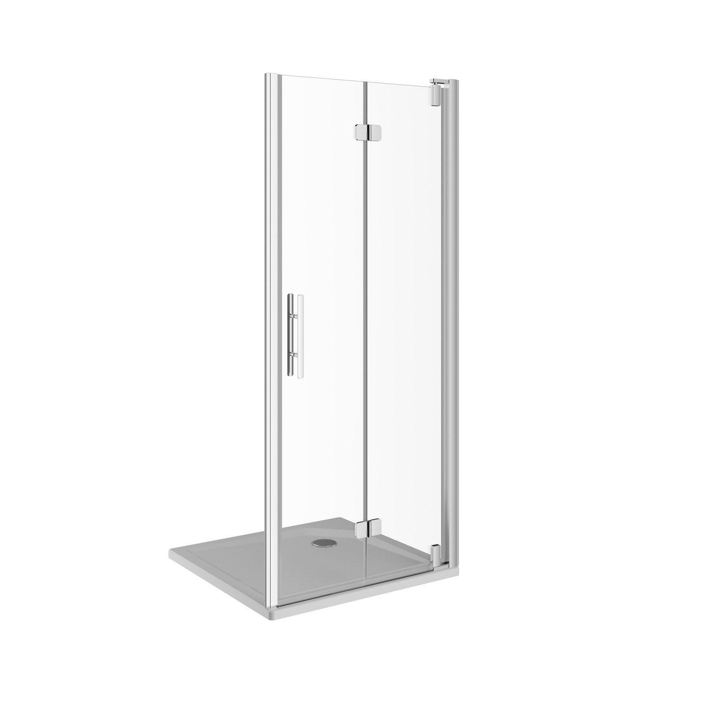 Porte de douche pivot pliante 79 cm transparent adena - Porte de douche leroy merlin ...