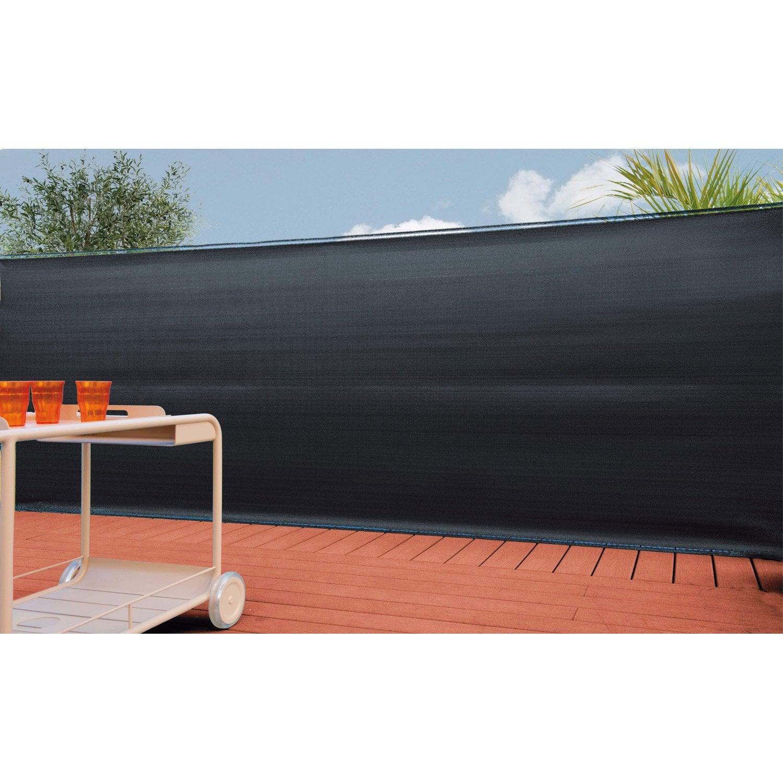 brise vue poly thyl ne naterial occultation tiss e 100 gris cm x c leroy merlin. Black Bedroom Furniture Sets. Home Design Ideas