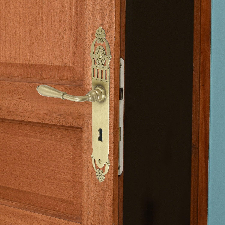 poign e de porte mansart trou de cl laiton 195 mm. Black Bedroom Furniture Sets. Home Design Ideas