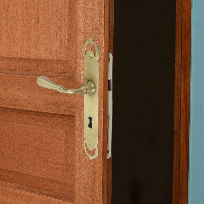 Poign e de porte laprade trou de cl laiton 195 mm - Poignee de porte olivari ...