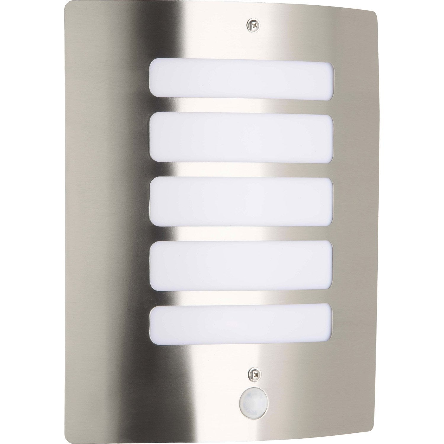 Applique d tection ext rieure todd e27 inox brilliant for Applique murale exterieur led leroy merlin