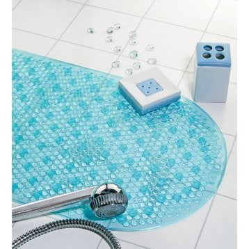 tapis antid rapant energie bleu turquoise x cm leroy merlin. Black Bedroom Furniture Sets. Home Design Ideas