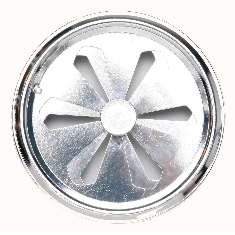 Grille d 39 a ration aluminium chrom cm leroy merlin for Grille d aeration cuisine
