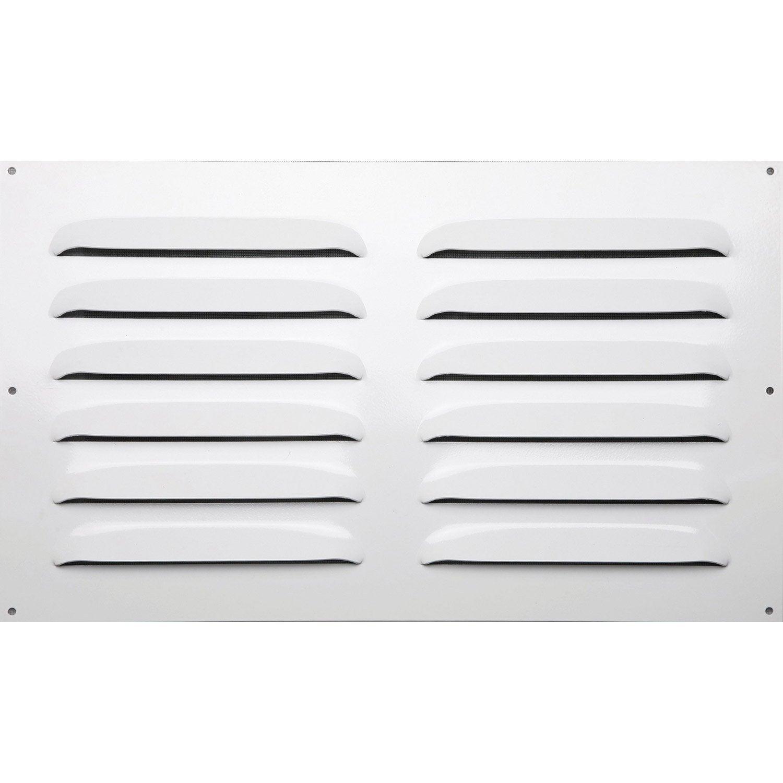 Grille d 39 a ration aluminium laqu x cm leroy - Installer grille aeration fenetre pvc ...