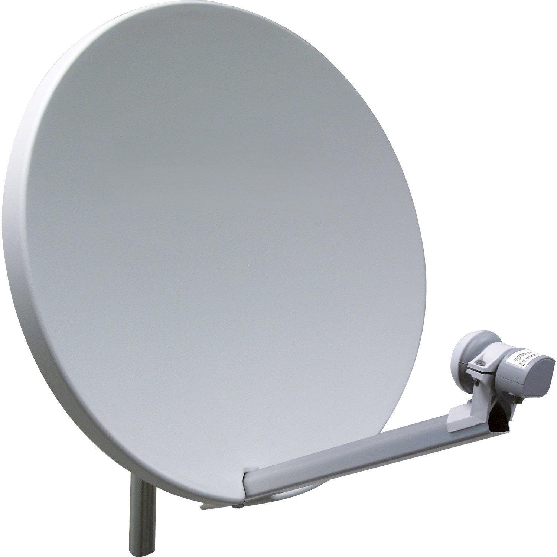 Antenne satellite parabolique visionic 60 cm leroy merlin for Parabole d interieur satellite
