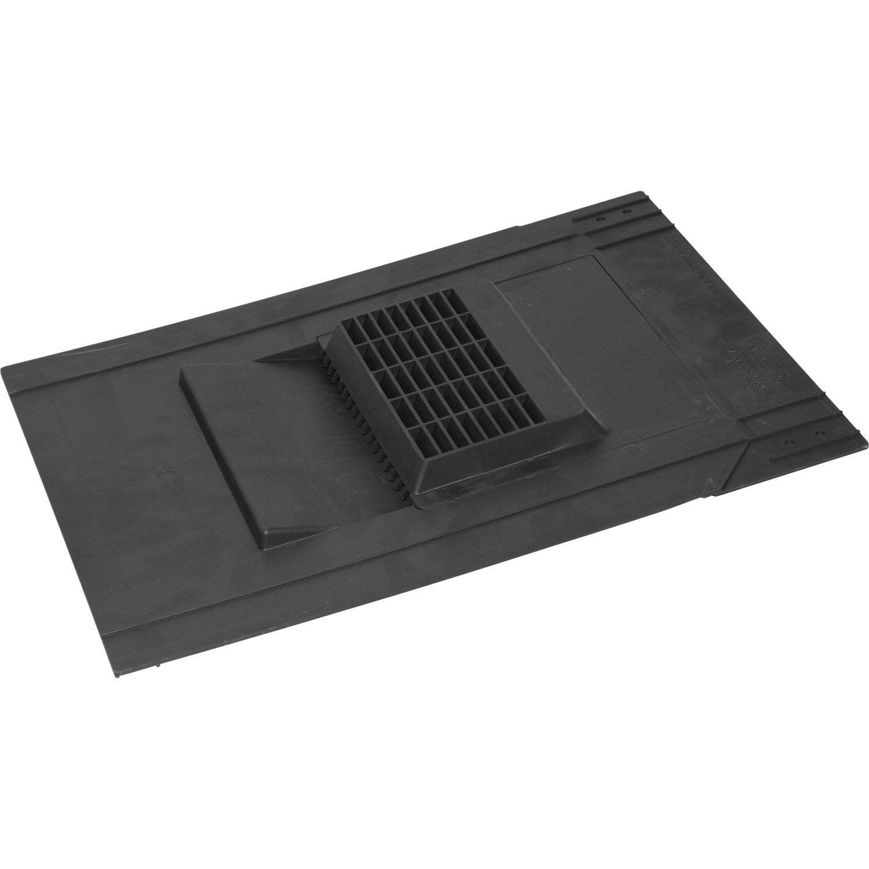 ventilation de chute pour ardoise dimos noir mm x l 0 4 m leroy merlin. Black Bedroom Furniture Sets. Home Design Ideas