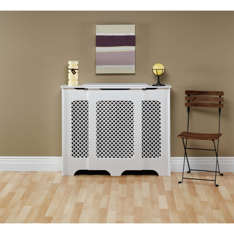 cache radiateur classique en m dium mdf brut ajustable. Black Bedroom Furniture Sets. Home Design Ideas