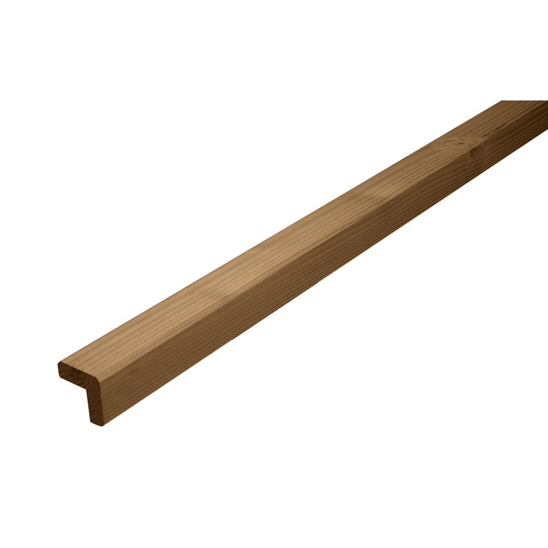 baguette d 39 angle douglas marron 46 x 46 mm 2 5 m leroy merlin. Black Bedroom Furniture Sets. Home Design Ideas