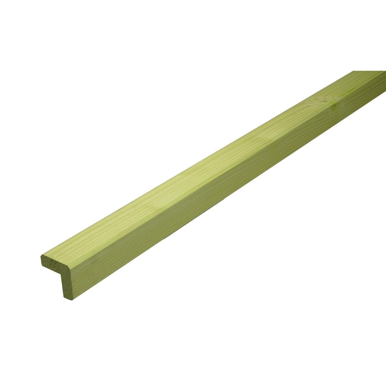 Baguette d 39 angle epic a vert 45 x 45 mm m leroy merlin - Baguette d angle bois ...