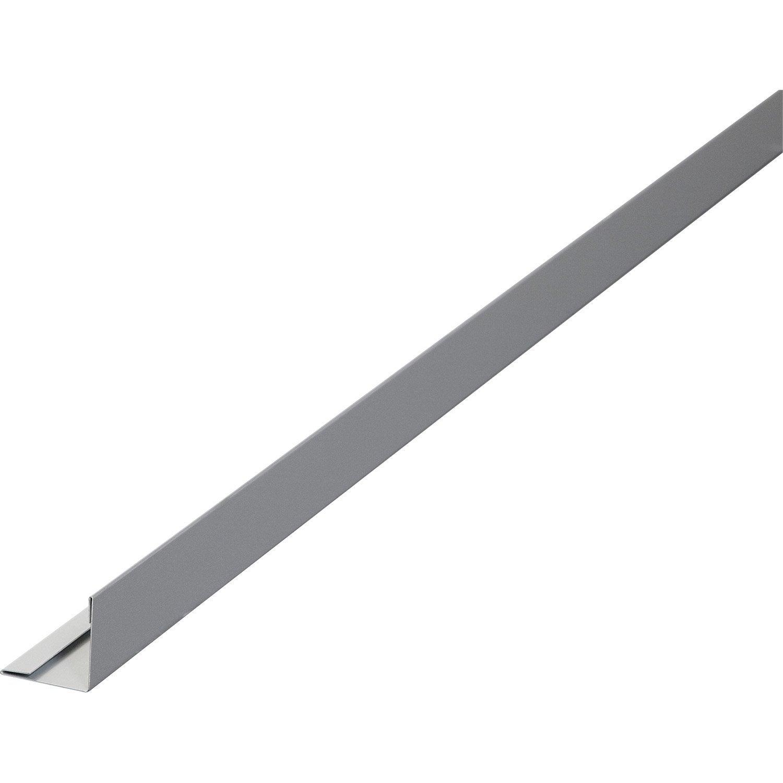 Finition pour clin aluminium 30 x 30 gris 3 m leroy merlin - Corniere alu leroy merlin ...