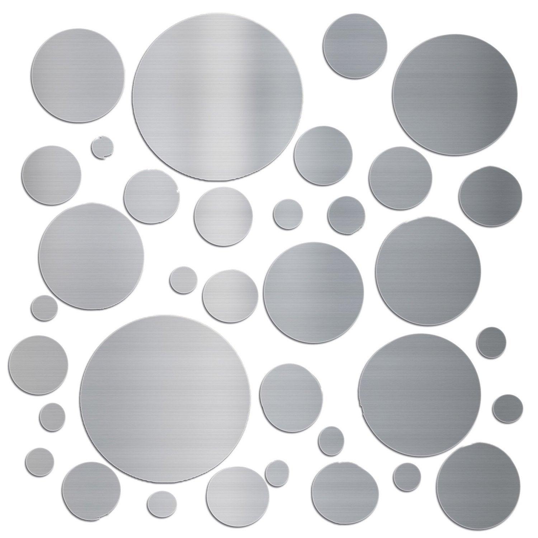 sticker aluminium bross 233 bulles 15x15 cm leroy merlin