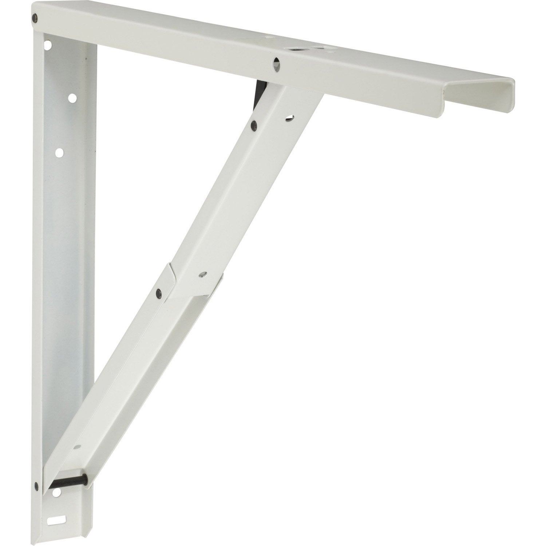 equerre abat plan acier epoxy blanc x cm. Black Bedroom Furniture Sets. Home Design Ideas