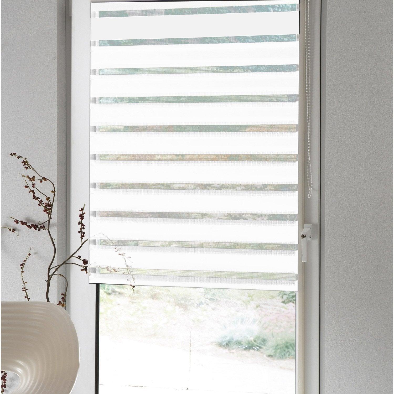 store enrouleur jour nuit polyester inspire blanc blanc n 0 42x170 cm leroy merlin. Black Bedroom Furniture Sets. Home Design Ideas