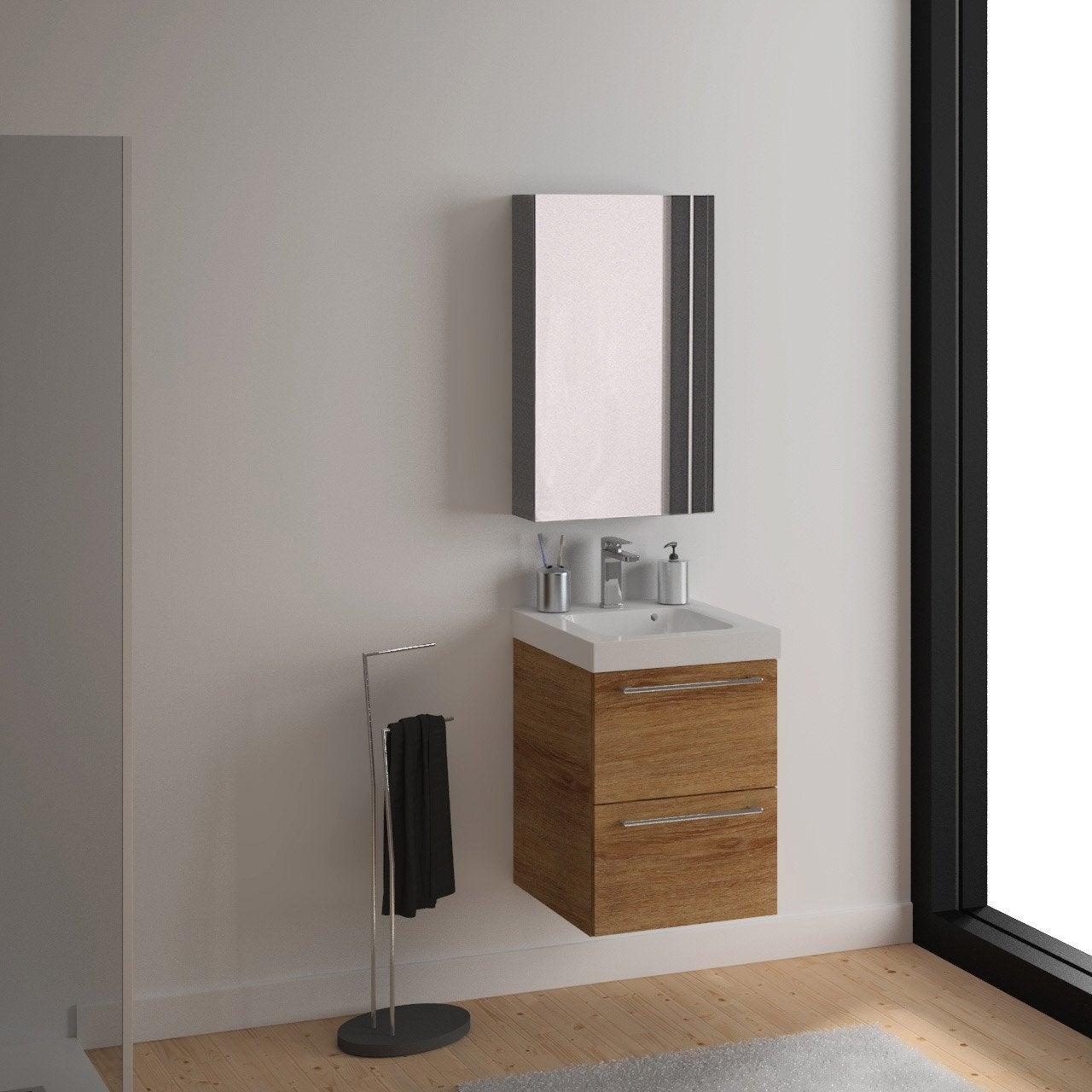 meuble vasque 46 cm remix leroy merlin. Black Bedroom Furniture Sets. Home Design Ideas