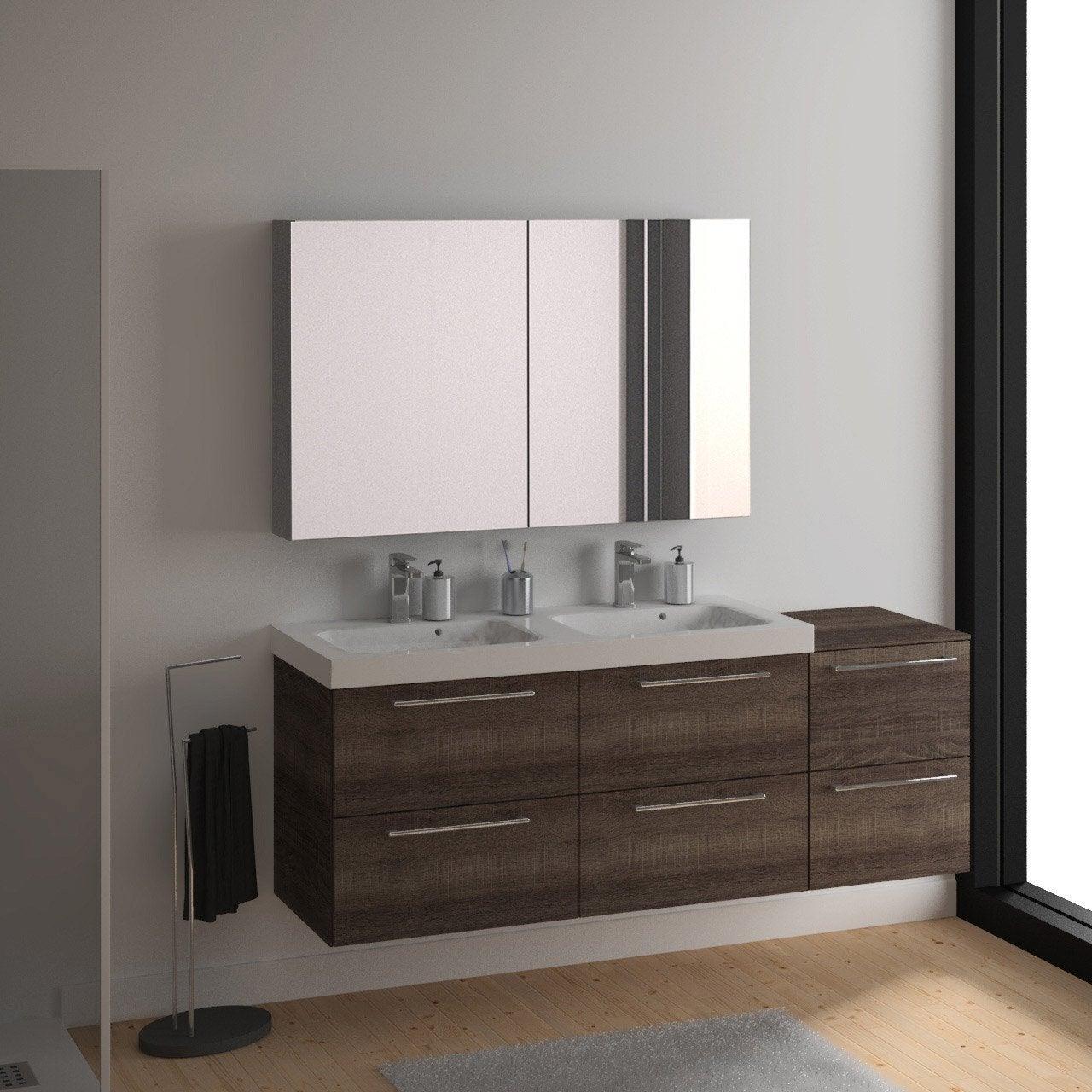meuble vasque 121 cm d cor ch ne havane remix leroy merlin. Black Bedroom Furniture Sets. Home Design Ideas