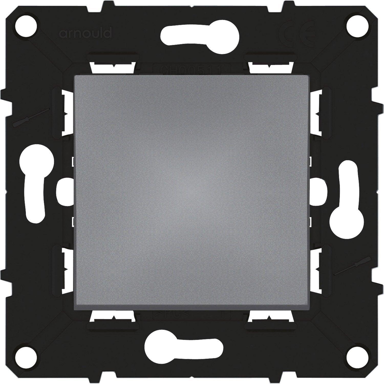 interrupteur vv voyant lumineux espace volution arnould gris anthracite leroy merlin. Black Bedroom Furniture Sets. Home Design Ideas