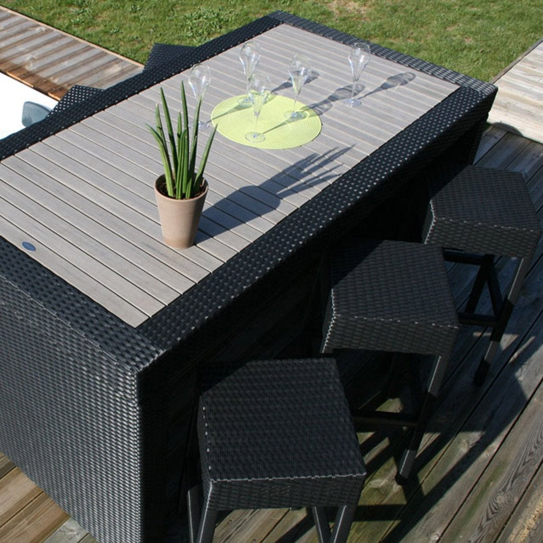 salon de jardin cuba dcb garden 1 table 6 tabourets leroy merlin. Black Bedroom Furniture Sets. Home Design Ideas