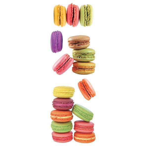 Sticker macarons 23 5 cm x 67 cm leroy merlin for Stickers muraux leroy merlin